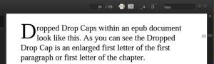 Dropped Drop Cap Inside an ePub Document