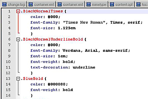 The CSS style sheet that controls all formatting and styling in this ePub document.