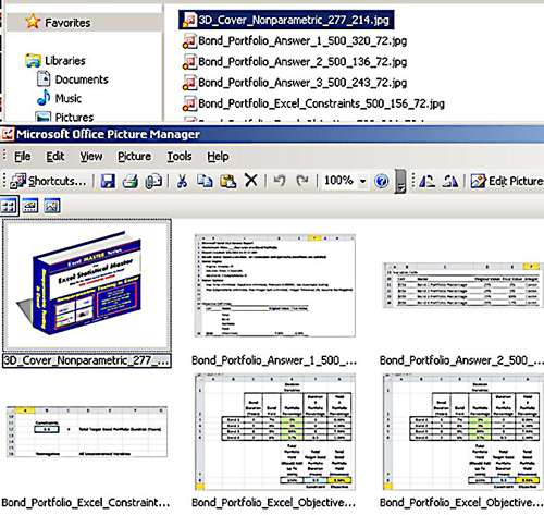 All of the image file within the ePub document.