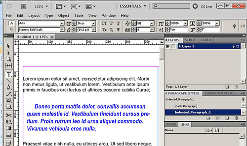 how to make paragraph styles in indesign