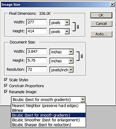 Photoshop Image Size Dialog Box For Sizing ePub Images