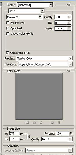 "Photoshop ""Save for Web & Devices"" Dialog Box For Saving ePub Images"