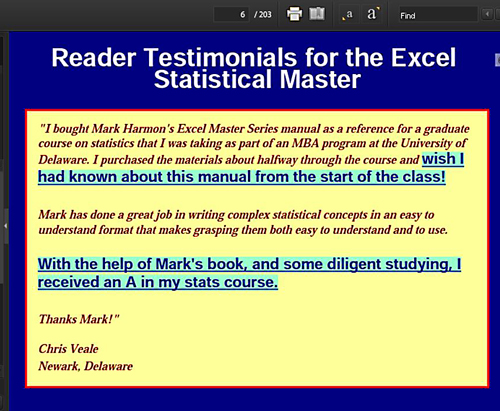 Placing Reader Reviews of Your Other Books Prominently In Your Kindle eBook
