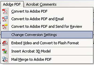 Adobe Acrobat Change .pdf Conversion Setting