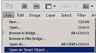 Photoshop Opening an Image As Smart Object