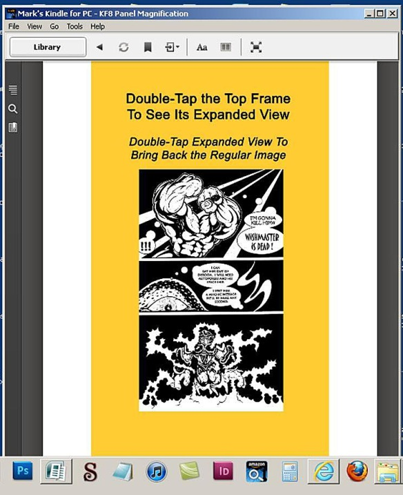 Image Before KF8 Panel Magnification Viewed on Kindle for PC