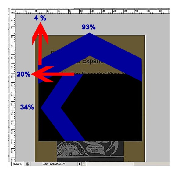 Determining the KF8 Window Dimensions Using Photoshop With Rulers Configured To Show Percent of Height and Width